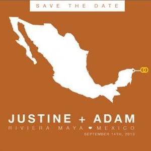 Mexico Save the Date Wedding Printa..