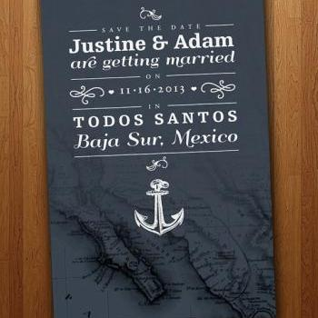 Any Location - Save the Date Wedding Card (Listing features Baja, Mexico)